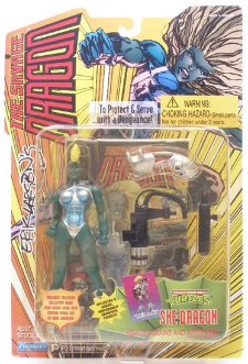 Playmates Toys Mohawk She-Dragon Action Figure