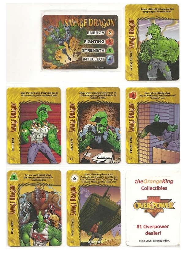 Savage Dragon Overpower Cards
