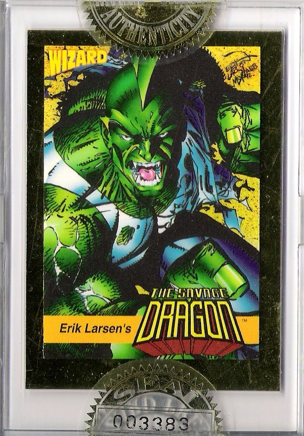 Wizard Magazine #13 Savage Dragon Promo Card Sealed