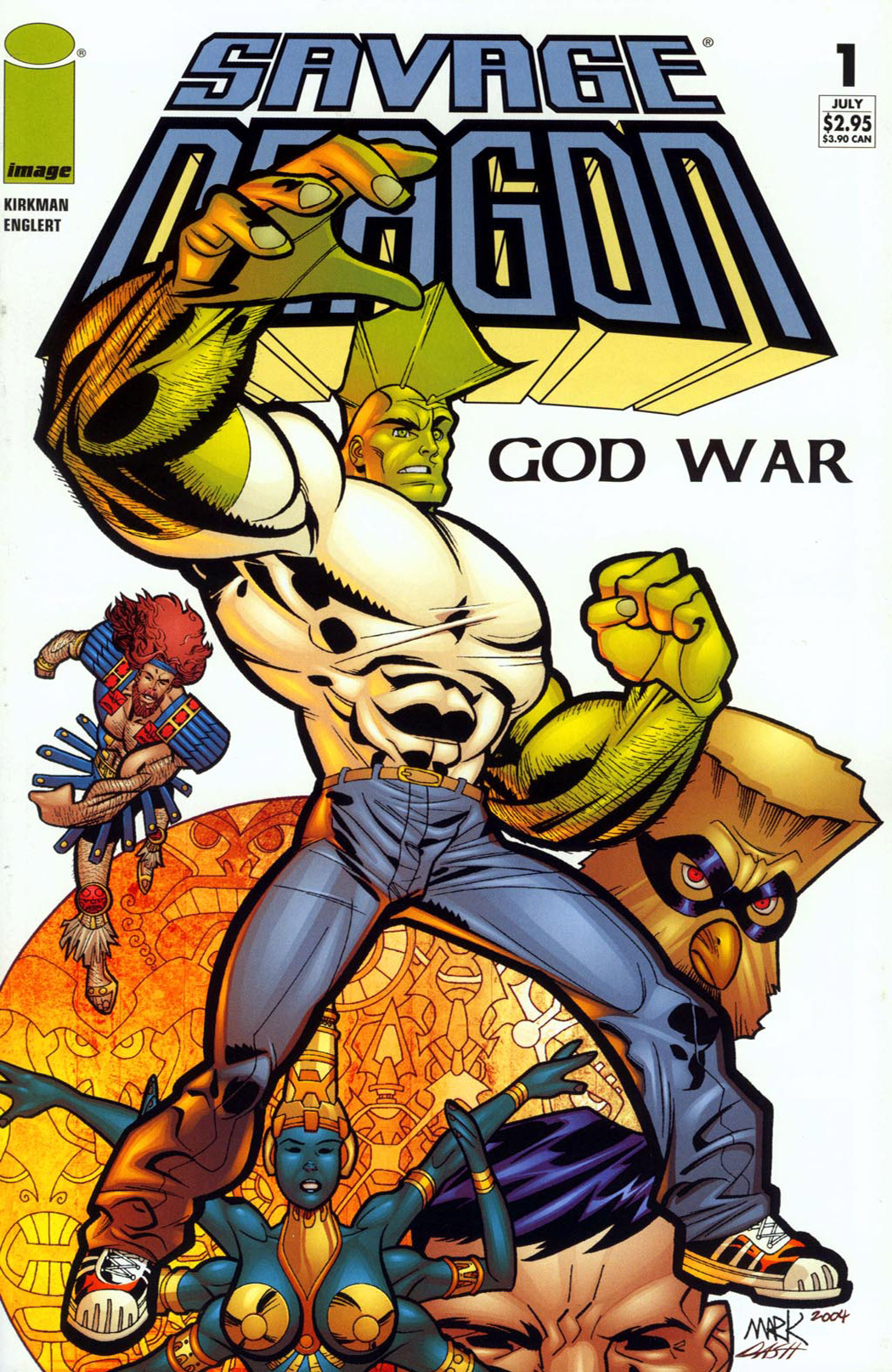 Cover Savage Dragon God War #01