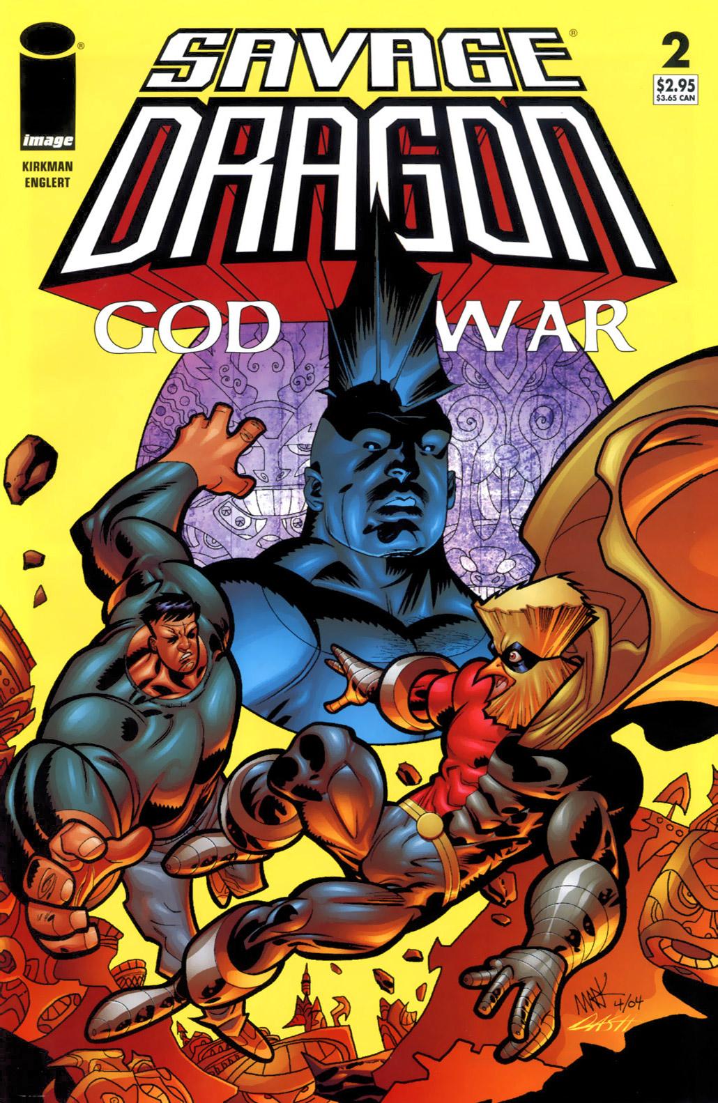 Cover Savage Dragon God War #02