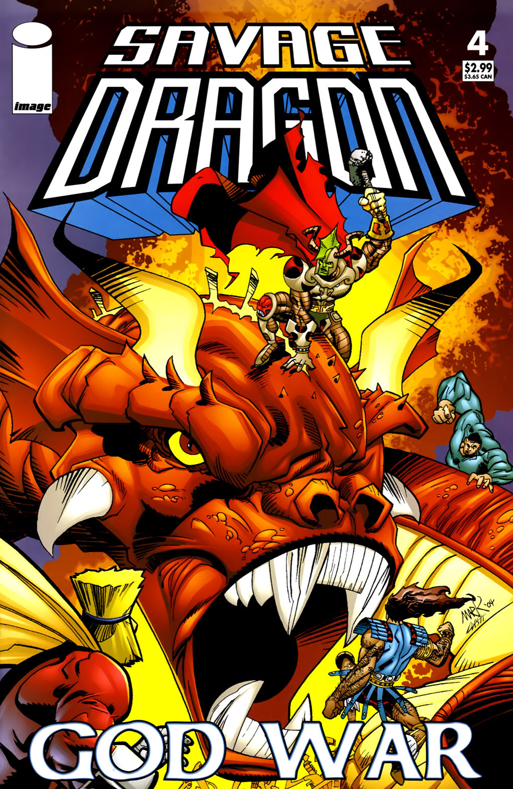 Cover Savage Dragon God War #04