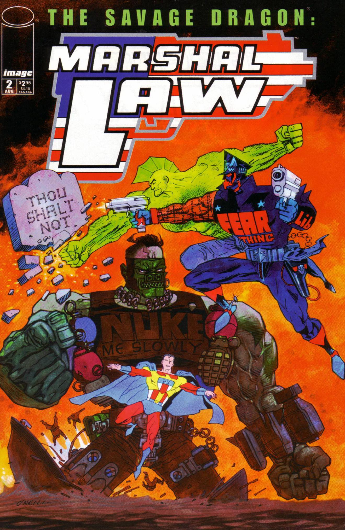 Cover Savage Dragon Marshal Law #02