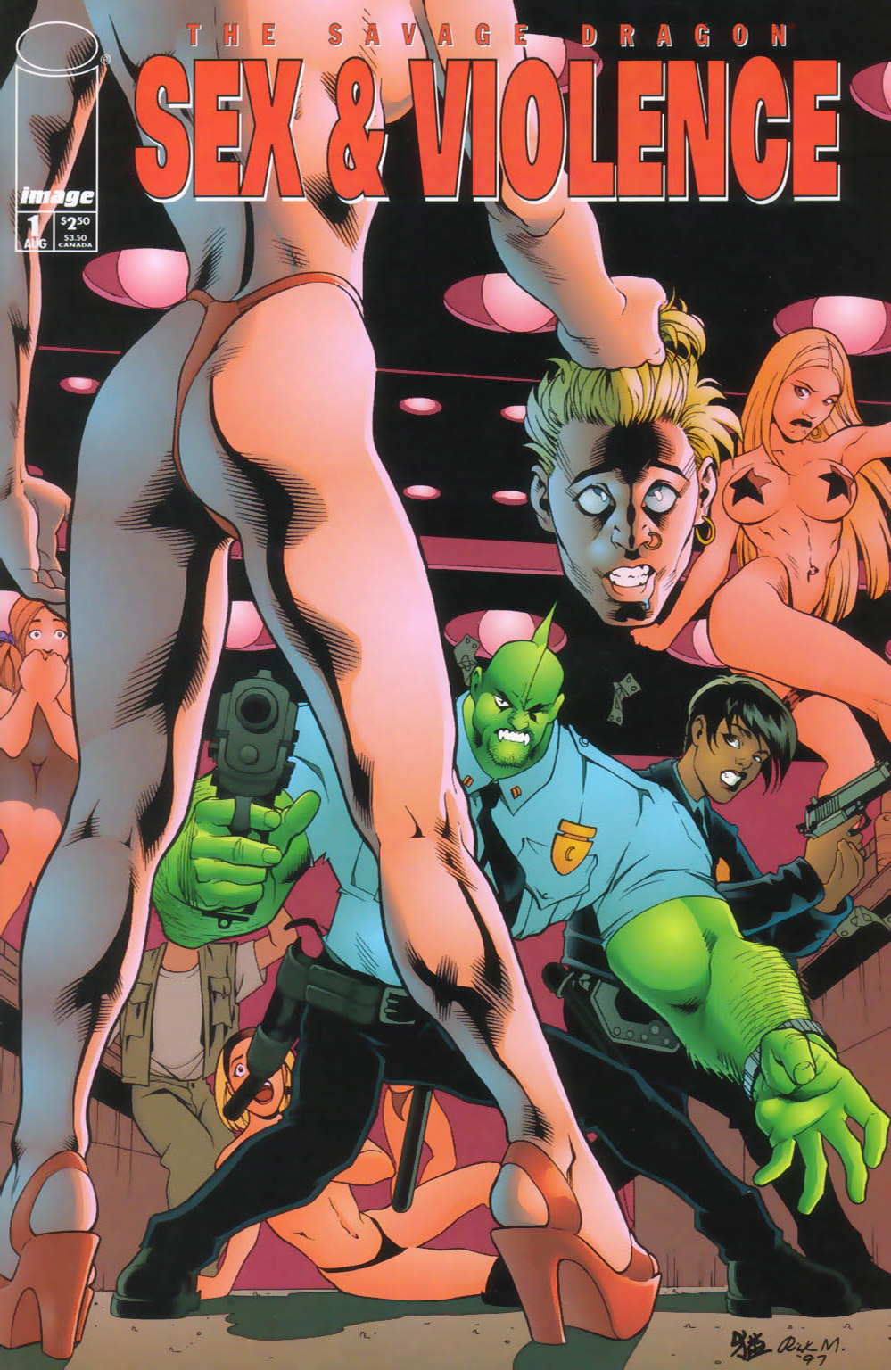 Cover Savage Dragon Sex & Violence #01