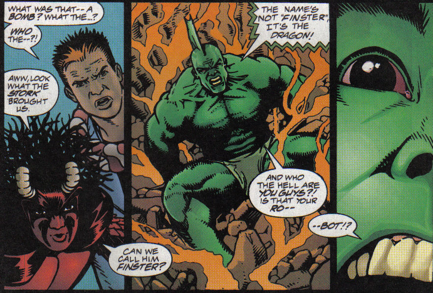 Savage Dragon Strikeback Panel