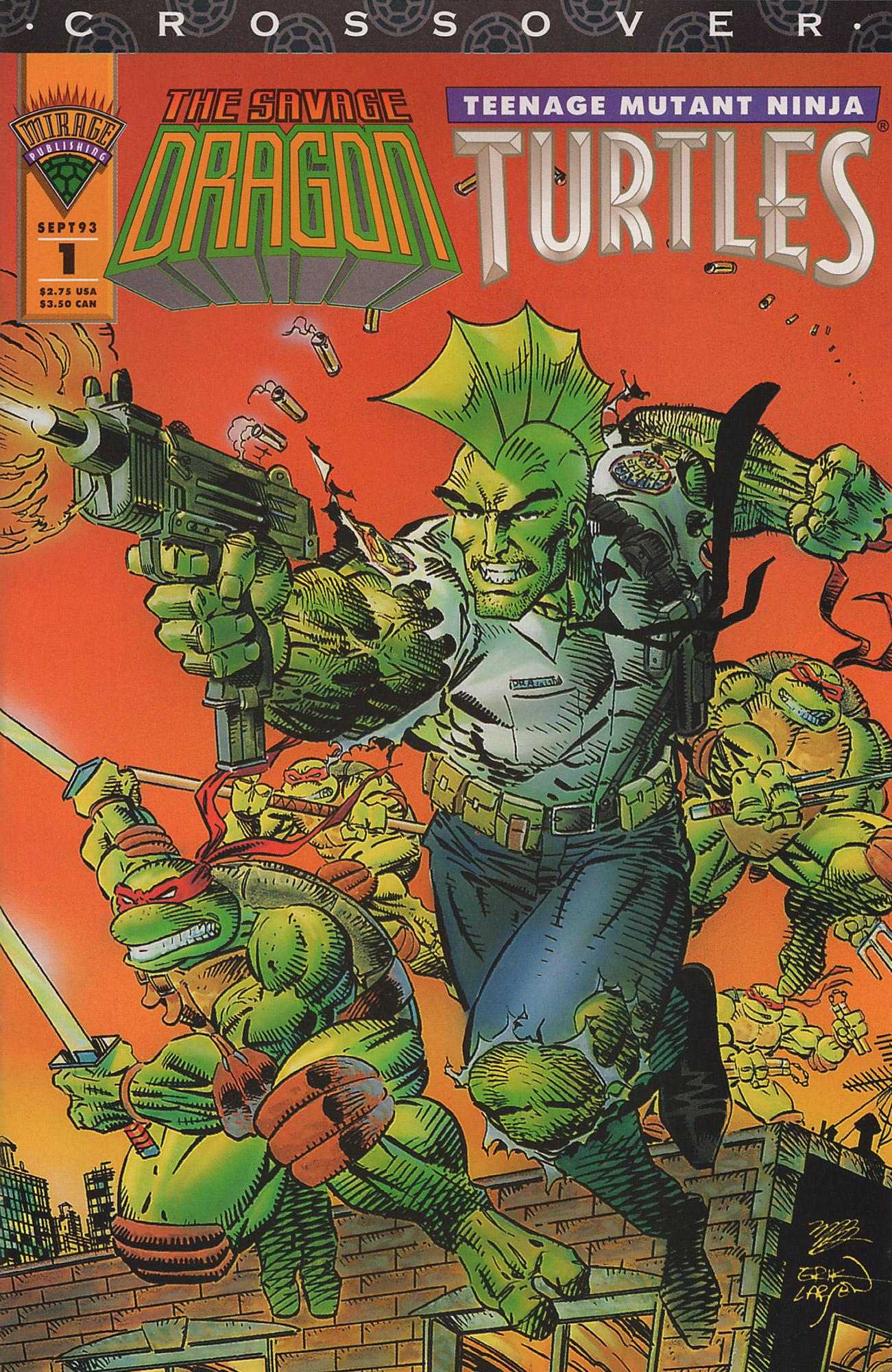 Cover Savage Dragon TMNT #01