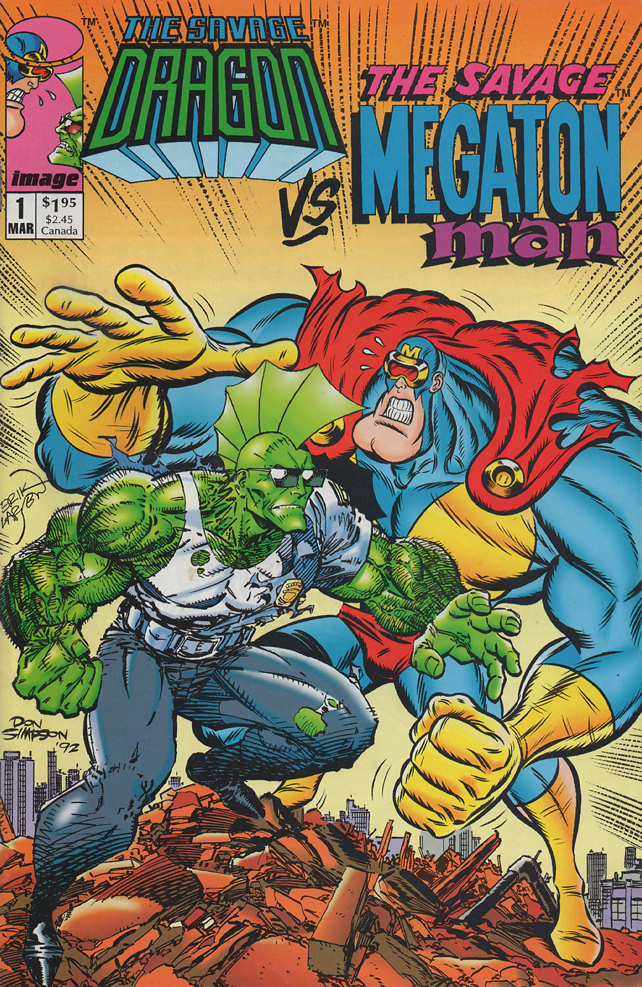 Cover Savage Dragon vs. Savage Megaton Man #1