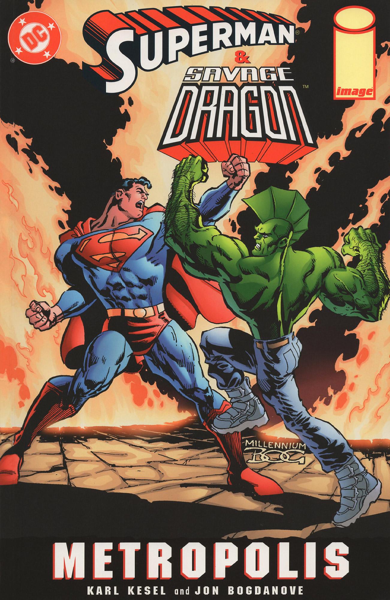 Cover Superman Savage Dragon Metropolis