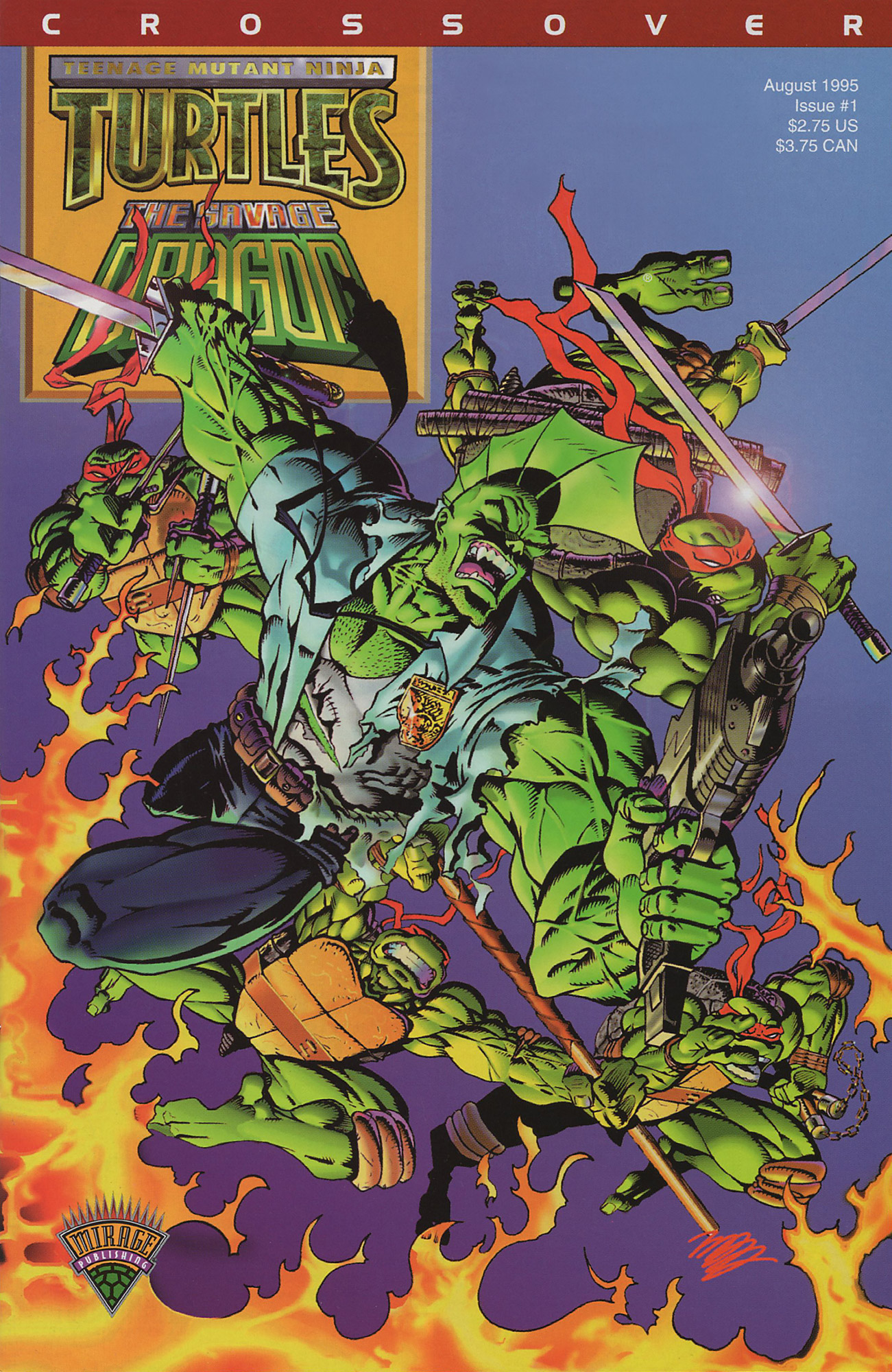 Cover TMNT Savage Dragon